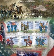 Mozambique 2011 MNH - American Civil War. Yvert & Tellier Number: 3706-3711,  Michel Number: 4556-4561,  Scott: 2258 - Mozambique
