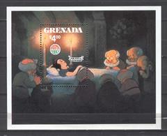 Disney Grenada 1980 Christmas - Snow White MS MNH - Disney
