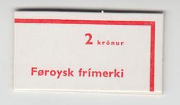 Faroe Islands 1975 Booklet - Facit HA 1 Slot Machine BookletMNH ** - Faeroër