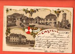 ZDB-25 Gruss Aus Castell  Pionier. Litho Gelaufen 1901 Nach Schweiz - Otros