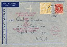 Curacao - 1941 - Censored LP-cover Van Willemstad Naar NY - Gezien Censuur Koninklijke Marine / Netherlands Navy - Early - Curaçao, Nederlandse Antillen, Aruba