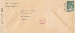 Curacao - 1941 - 12,5 Cent Wilhelmina Met Sluier Op Censored Cover Van Aruba Naar NY / USA - Vroege Strook Postcensuur - Curaçao, Nederlandse Antillen, Aruba