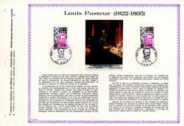 """RRR """" LOUIS PASTEUR """" Sur Feuillet PAC N°té RARE (1500 Ex.) De 1973 N°YT 1768. Parfait état. RRR - Louis Pasteur"""