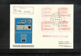 Cuba 1984 ATM Interesting Registered Letter - Cartas