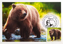 2717 2718 Joint Issue Of The Russian Federation And The Republic Of Korea Fauna Bears 2020 - Cartoline Maximum