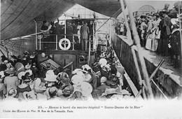 """Messe à Bord Du Navire Hôpital """"Notre Dame De La Mer"""" Cliché Des Oeuvres De Mer - Cpa N° 25, Non écrite Correcte - Autres"""