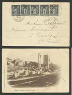 Bande 1c Type Sage / Carte Postale ARLES /  CAVAILLON 29.03.1902 >>> TARBES - 1877-1920: Semi-moderne Periode