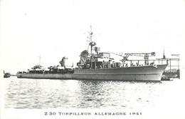 Z 30 , 1941 , Torpilleur Allemagne , * 393 08 - Warships