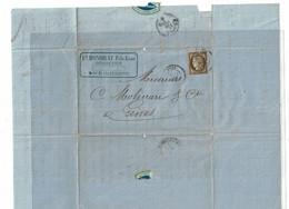 CTN64 - CERES 30c LAC NICE / GENES 24/4/1876 - 1871-1875 Ceres