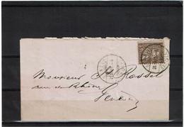 CTN64 - SUISSE HELVETIA ASSISE 5c LAC GENEVE POUR VILLE 31/3/1882 - Unclassified