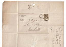 CTN64 - SUISSE HELVETIA ASSISE 5c LSC GENEVE POUR VILLE 6/10/1881 - Unclassified