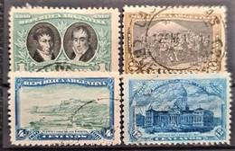 ARGENTINA 1910 - Canceled - Sc# 161, 162, 164, 167 - Oblitérés