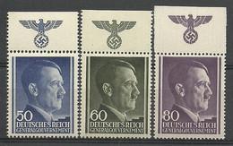 General Gouvernement/GG 1943 Mi 110-112 Fi 110-112 MNH ( ZE5 GGBmar110-112a ) - Other