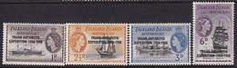 Falkland Islands Dependencies 1956 Ovpt SG G41-44 Mint Hinged - Falkland Islands