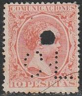 1889. * Edifil: 228. ALFONSO XIII-PELON. PERFORADO C. L. - Ongebruikt