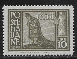 Italy Aegean Rhodes Scott # 63 Mint Hinged Crusader, 1932 - Egée (Rodi)