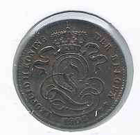 LEOPOLD II * 1 Cent 1902 Vlaams * Z.Fraai / Prachtig * Nr 10057 - 01. 1 Céntimo