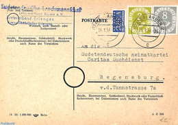 Germany, Federal Republic 1954 Postcard To Regensburg, (Postal History) - Covers & Documents
