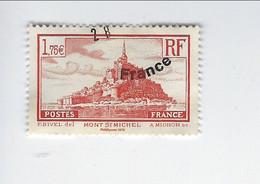 Timbre Issu Du Bloc Trésor De La Phillatélie BS 12 Mont Saint-Michel N° 260 Oblitéré 2015 - Otros