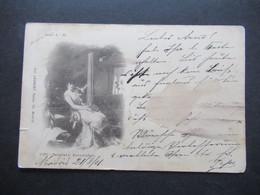 Apanien 1901 AK Serie A - 35 Benjumea Eucantadora Gemälde Fot. Laurent Turco, 18 Madrid Nach Paris Gesendet - Cartas