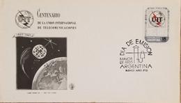 A) 1965, ARGENTINA, SPACE, FDC, INTERNATIONAL TELECOMMUNICATIONS UNION - Oblitérés