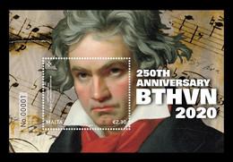 Malta 2020 Mih. 2155 (Bl.83) Music. Composer Ludwig Van Beethoven MNH ** - Malta