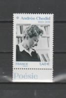 FRANCE / 2020 / Y&T N° 5388 ** : Andrée Chédid X 1 BdF Bas - Unused Stamps