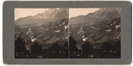 Stereo-Fotografie Ansicht Lauterbrunnen, Kirche Mit Friedhof - Stereoscopio