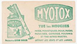 Buvard 21.9 X 12.7 Produit Du LION NOIR  Tue Les Mouche MYOTOX - Wash & Clean