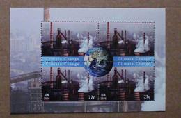 Y2 2008 : Nations Unies (N-Y) : Changement De Climat - Fumées D'usines Et Globe Terrestre - Ongebruikt