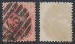 """Médaillon Dentelé - N°16 Obl P45 """"Gand"""" (8 Barres). TB  / Dentelure Non Vérifiée. - 1863-1864 Medaglioni (13/16)"""