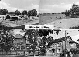 DC4897 - Ak Biederitz Kr. Burg Kaffee Krauter Gaststätte Lindenhof - Burg