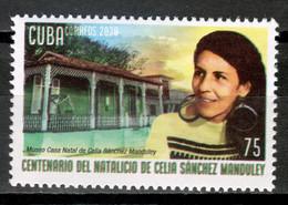 Cuba 2020 / Cuban Revolution Fighter Celia Sánchez  MNH Revolución Cubana Revolucionaria Combatiente / Cu17323  C3-14 - Nuovi