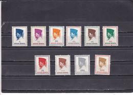 Indonesia - 1964 - Mi:425-34  MNH** - Indonesia