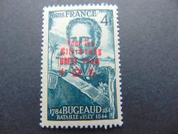 Magnifique Timbre Type Bugeaud à 4 Francs Avec Surcharge De La Libération De Brest En Rouge - Liberazione