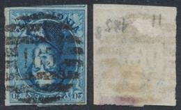 "Médaillon - N°11 Margé + Voisin Obl P185 ""Seraing"" (8 Barres). TB / Perception. - 1858-1862 Medallions (9/12)"