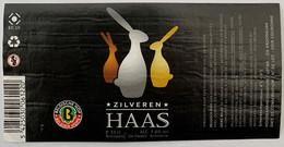 Etiketten 3e3 Zilveren Haas Brewery De Hazen - Beer