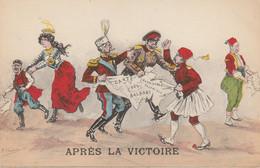 Après La Victoire , Carte Des BALKANS  ANDRINOPLE  SALONIQUE   Turquie( Illustrateur : F Chamouin - Guerra 1914-18