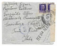 DA P.M.. 65 ( GRECIA ) A CHIETI - 2.2.1941 - VERIFICATA DALLA CENSURA. - Military Mail (PM)