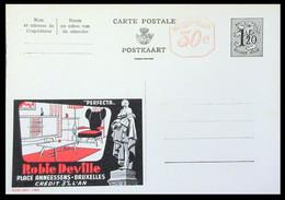 Entier . CP . Publibel Neuve 1465 .1,20 Fr + 30c . Meubles ROBIE DEVILLE . BRUXELLES - Publibels