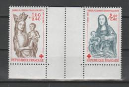 """FRANCE / 1983 / Y&T N° 2295a/2296a ** : Croix-Rouge (2 TP """"Sculptures Sur Bois"""" De Carnet) X 1 Se Tenant - Unused Stamps"""
