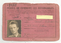 Permis De Conduire Les Automobiles , 1948, 2 Scans , Préfet De Charente Maritime, Timbré 200 Francs - Unclassified