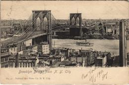 CPA AK NEW YORK Brooklyn Bridge USA (804327) - Ponti E Gallerie