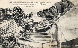 - Le Zeppelin Abattu Par Un Auto-canon à REVIGNY - - Guerra 1914-18