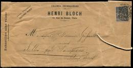 TYPE SAGE SUR LETTRES - Let. N°89 Obl. Imprimés PARIS P.P 11/2/98 S. Env. Ayant Contenu Des échantillons De Graines Four - 1877-1920: Periodo Semi Moderno