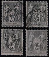 -Sage  Divers   Ob   PERFORES - 1876-1898 Sage (Type II)