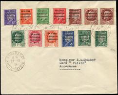 TIMBRES DE LIBERATION - Let. ANNEMASSE 1/5, 7/9, 6a, 11a, 25 Et 30 Obl. ANNEMASSE 17/10/44 S. Env., TB. C Cote : 1630 - Liberation