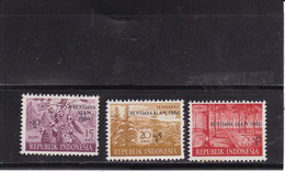 Indonesië / Indonesia 1961 Nr 286/288 Postfris/MNH Watersnood, Opdruk Betjana Alam  MNH** - Indonesia