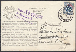 Belgique 1932 - Carte Postale De Service- Avis De Non Livraison De Mouscron à Destination Tournai..  (DD) DC-9752 - Servizio