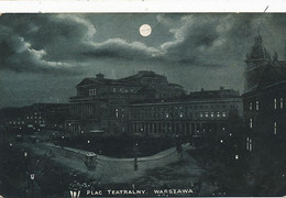 Warszawa Plac Teatralny  P. Used  Stamp  1904 To  Claas  Napoli  Tram - Polonia